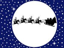 Santa Claus Driving In een Slee royalty-vrije illustratie