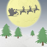 Santa Claus driving in a sledge from  papercraft Stock Photography