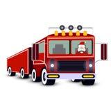 Santa Claus driving truck Royalty Free Stock Images