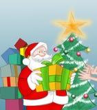 Santa claus drogi Fotografia Royalty Free