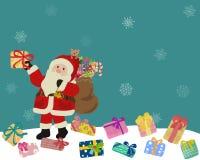 Santa Claus Drops Gifts royalty free illustration