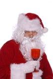 Santa Claus is drunk. Santa Claus has had way to many elf martinis stock photos