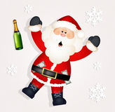 Santa Claus drunk Stock Photos