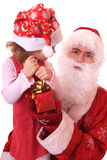 Santa Claus and dwarf Royalty Free Stock Photos
