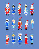 Santa claus dziewczyny śnieg Zdjęcia Stock