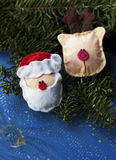 Santa Claus e cervi Fotografie Stock Libere da Diritti
