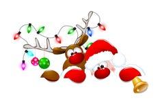 Santa Claus e cervos 3 Foto de Stock