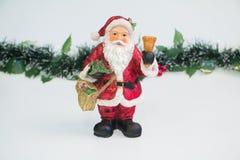 Santa Claus e lamé Fotografia Stock