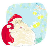 Santa Claus e pássaros Imagens de Stock Royalty Free