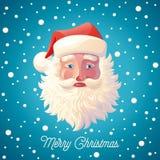 Santa Claus e queda de neve Fotografia de Stock