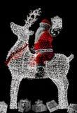Santa Claus e rena 5 Imagem de Stock