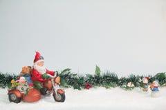 Santa Claus e sidecar Fotografia Stock