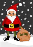 Santa claus with eco toys Stock Photography