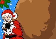Santa Claus ed il suo sacco Immagine Stock Libera da Diritti