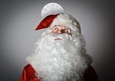 Santa Claus ed orologio Fotografie Stock