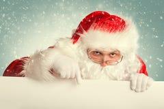 Santa Claus in een sneeuw Royalty-vrije Stock Foto