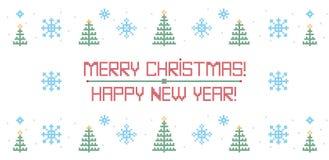 Santa Claus, ejemplo del vector del punto de cruz de la Navidad stock de ilustración