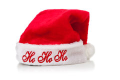 Santa Claus or Elf hat on white background Stock Images