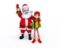 Santa Claus with Elves Stock Photography