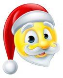 Santa Claus Emoji Emoticon vektor illustrationer