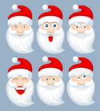 Santa Claus emotions vector illustration