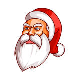 Santa claus emotions. Grudge, unhappiness, resentment. Part of christmas set. Ready for print. Stock Photos