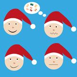 Santa Claus. The emotions of Santa Claus in the New years eve Stock Photo