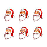 Santa Claus emotions pack.  Stock Image
