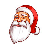 Santa claus emotions. Part of christmas set. Calm, peace, coolness, equanimity. Ready for print. Stock Images