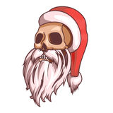 Santa claus emotions. Part of christmas set. Dead, skull. Ready for print. Royalty Free Stock Image