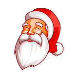 Santa claus emotions. Part of christmas set. Happiness, joy. Ready for print. Royalty Free Stock Photos