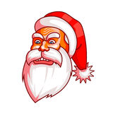 Santa claus emotions. Part of christmas set. Rage, rampage, anger. Ready for print. Royalty Free Stock Photography