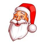 Santa claus emotions. Part of christmas set. Surprise, wonder, marvel. Ready for print. vector illustration