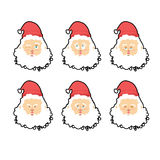 Santa Claus emotions set . Christmas character expression. Angry Stock Photos