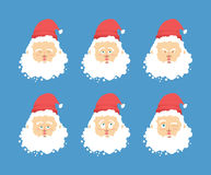 Santa Claus emotions set . Christmas character expression. Angry Royalty Free Stock Image