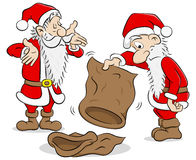 Santa claus with empty bags Royalty Free Stock Photo