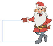 Santa Claus with an empty blank cartoon Stock Images