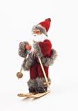 Santa Claus en árbol de los esquís un juguete Imagenes de archivo