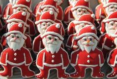 Santa Claus en el sol, colorido, único, galletas de la Navidad Foto de archivo libre de regalías