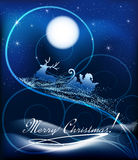 Santa Claus en el trineo Fotografía de archivo libre de regalías