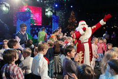 Santa Claus en etapa Imagen de archivo libre de regalías