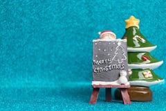 Santa Claus en fondo chispeante Imagen de archivo libre de regalías