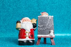 Santa Claus en fondo chispeante Foto de archivo