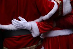 Santa Claus en Kerstmisvrouw, vrolijke Kerstmis stock afbeelding