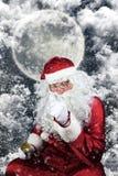 Santa Claus en la noche de la Navidad Imagen de archivo