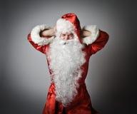 Santa Claus en lawaai Stock Afbeelding