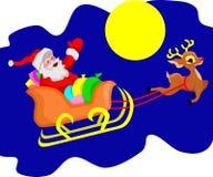 Santa Claus en Rudolph Reindeer royalty-vrije illustratie