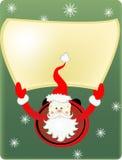 Santa Claus en sneeuwvlokken Stock Foto