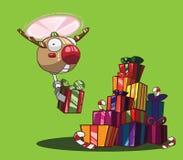 Santa Claus en vrolijke Kerstmis Stock Illustratie