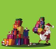 Santa Claus en vrolijke Kerstmis Royalty-vrije Illustratie